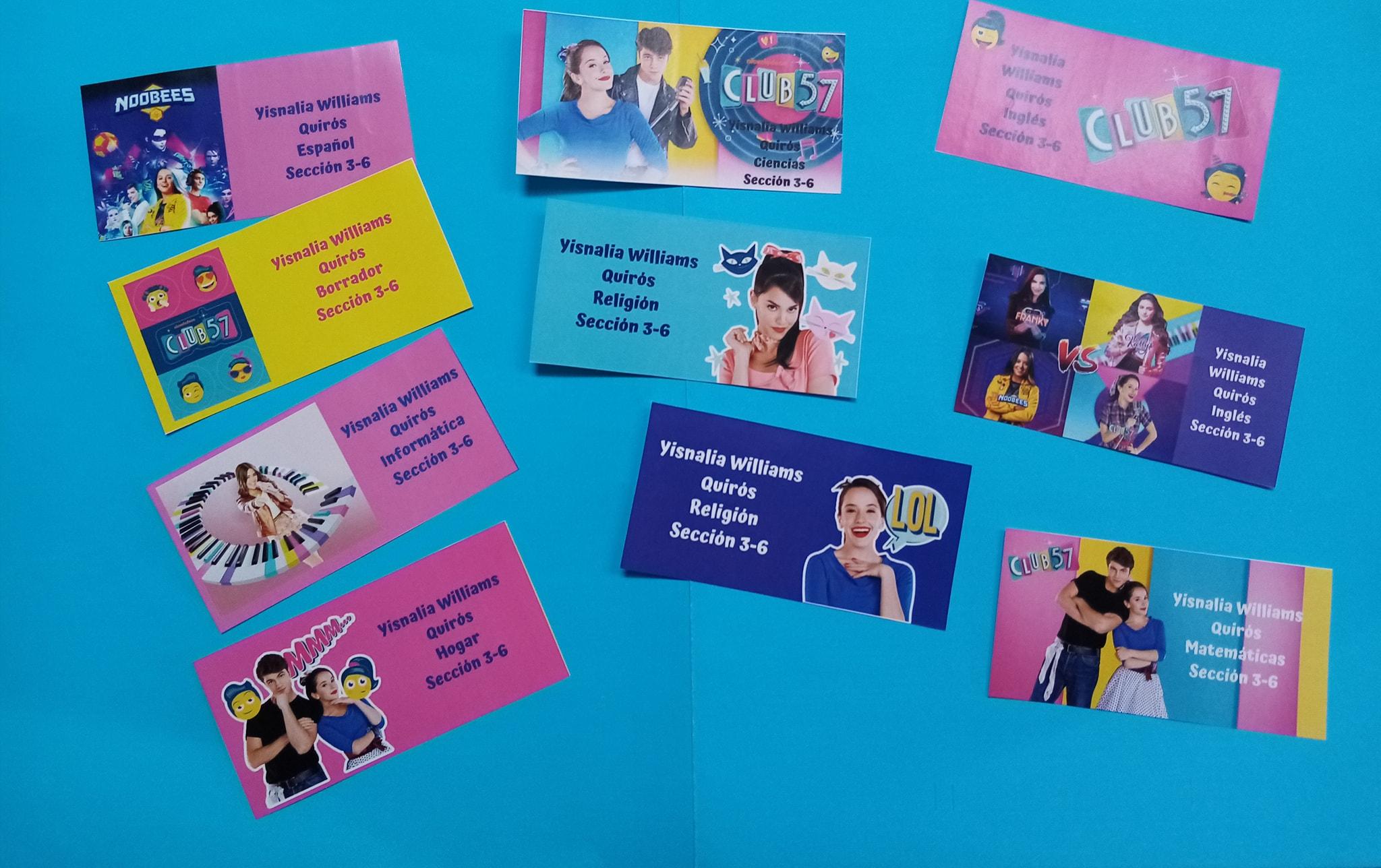 Stickers decorativos para cuadernos