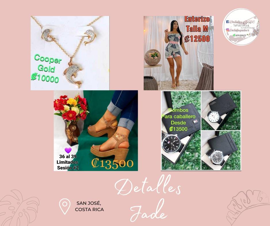 Detalles Jade, Ropa para Damas,  Ropa para Caballeros, Zapatos,