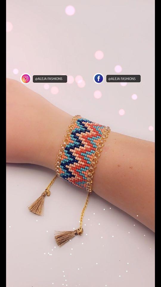 Nueva colección de pulseras artesanales tejida totalmente a mano