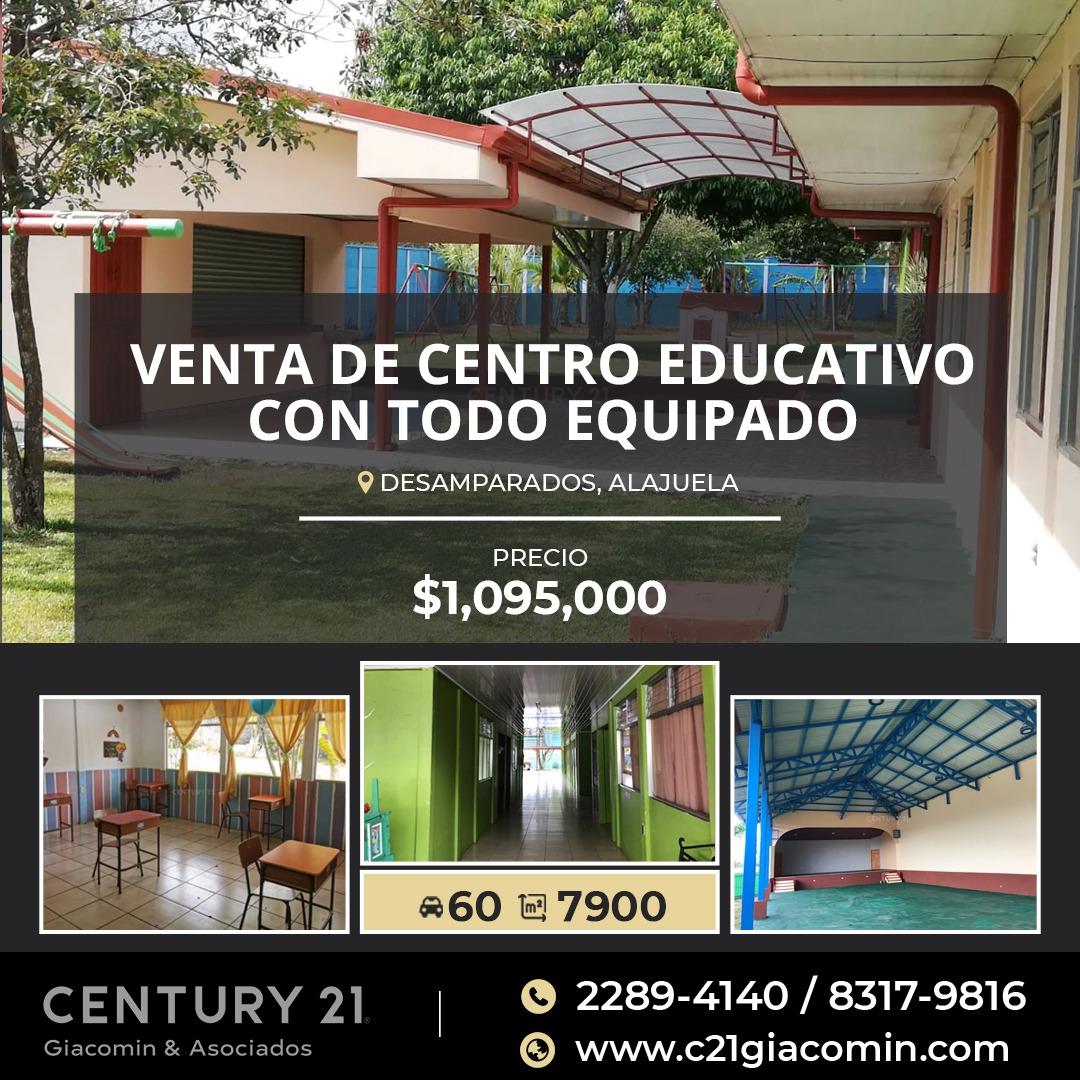 VENTA DE CENTRO EDUCATIVO, TODO EQUIPADO! EN ALEJUELA DESAMPARADOS