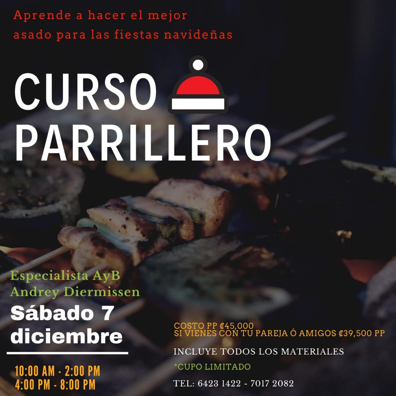 Ven este próximo 7 de diciembre a nuestro curso Parrillero