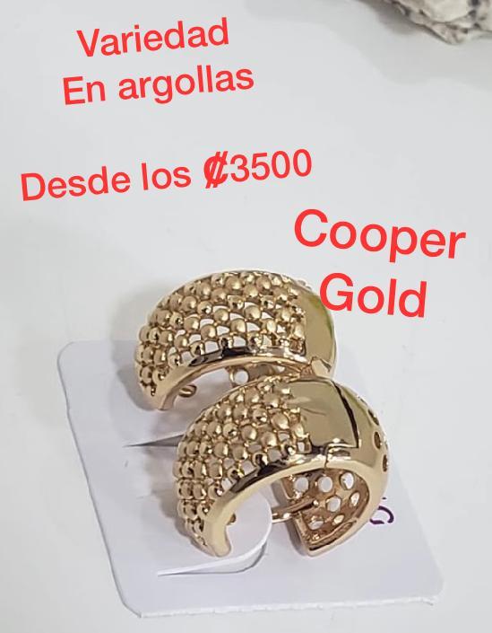 Se Venden Variedad De  Hermosas Argollas Cooper Gold