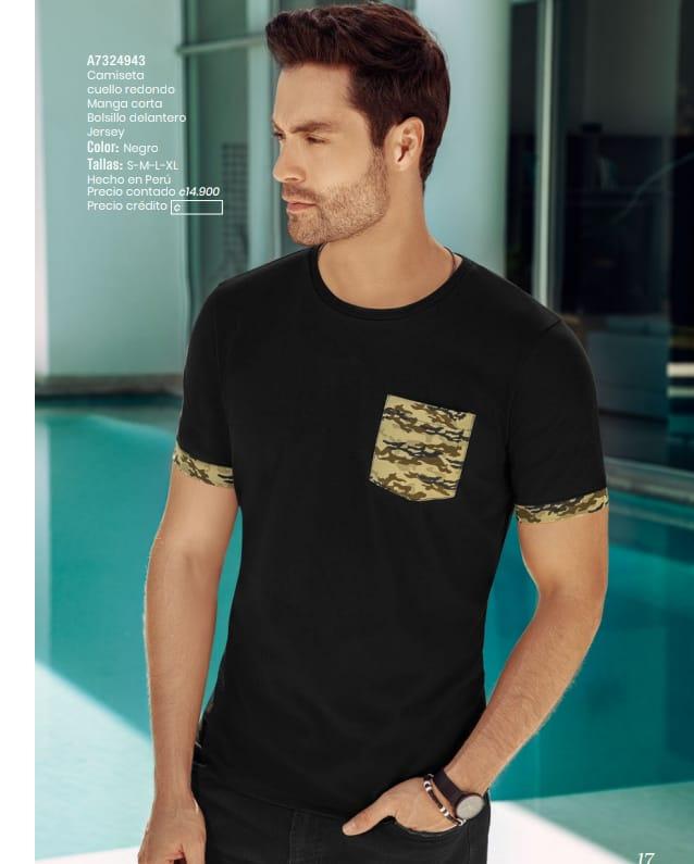 Camiseta cuello redondo en venta.