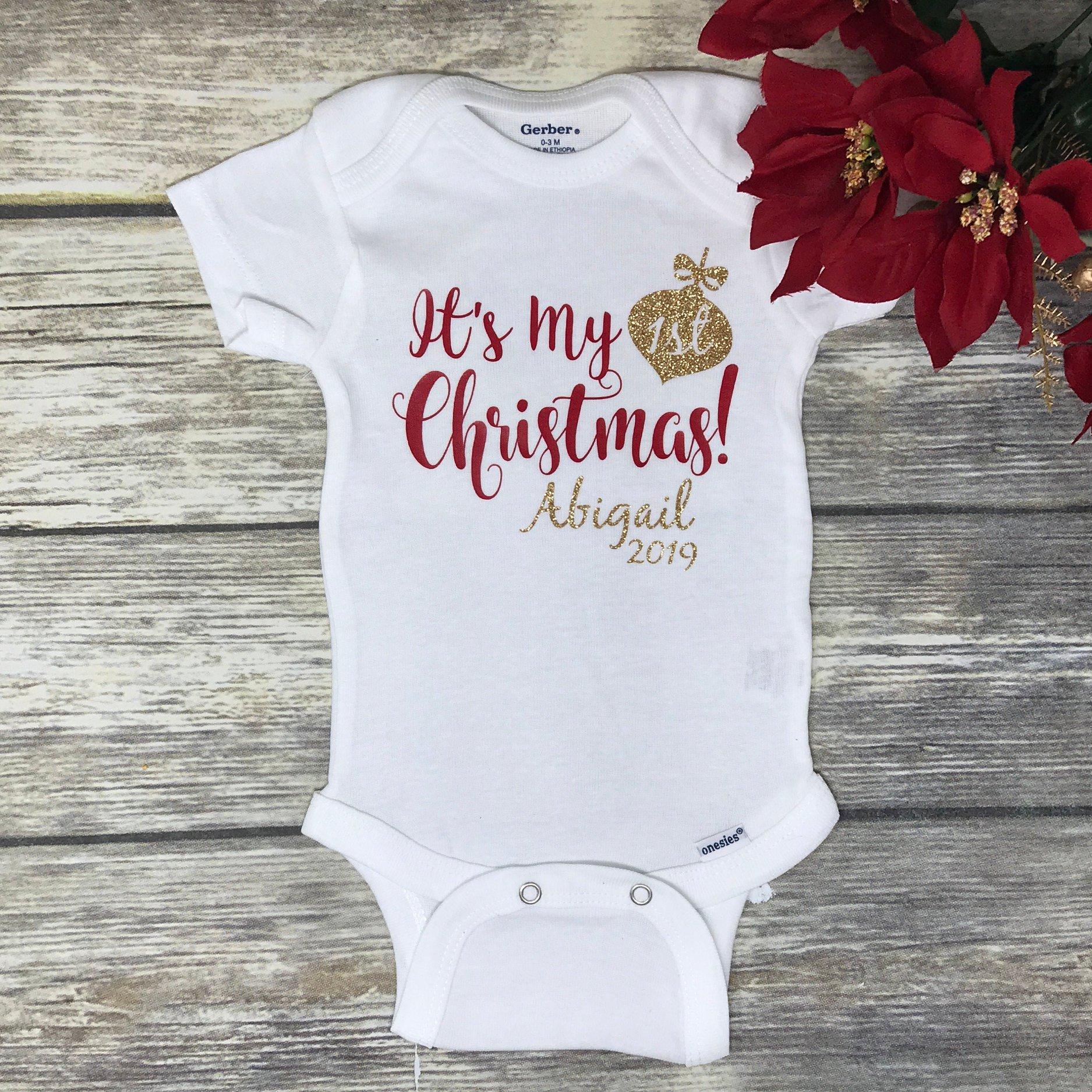 Mamelucos personalizados para bebés en esta navidad