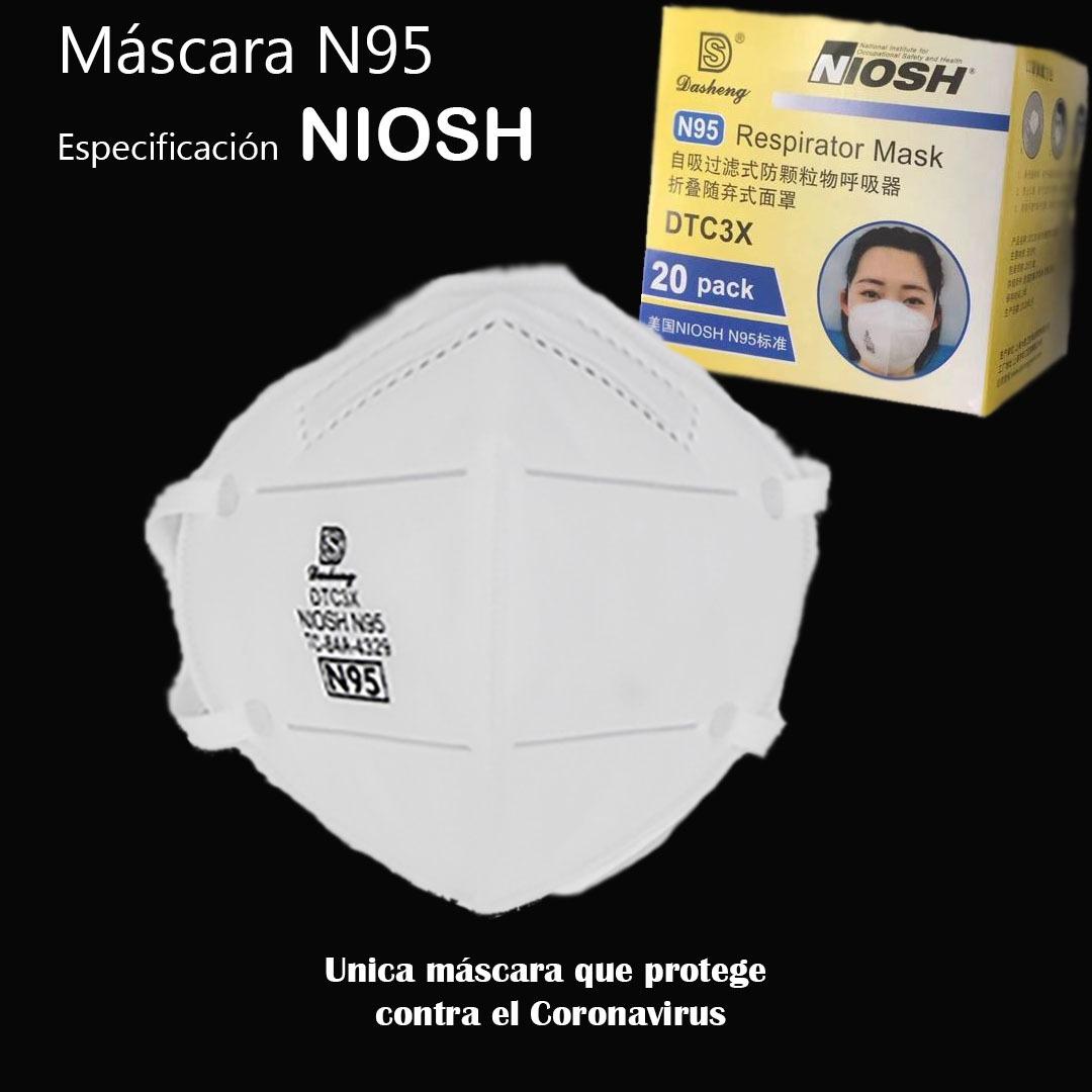 MASCARILLA N95 CERTIFICADA NIOSH