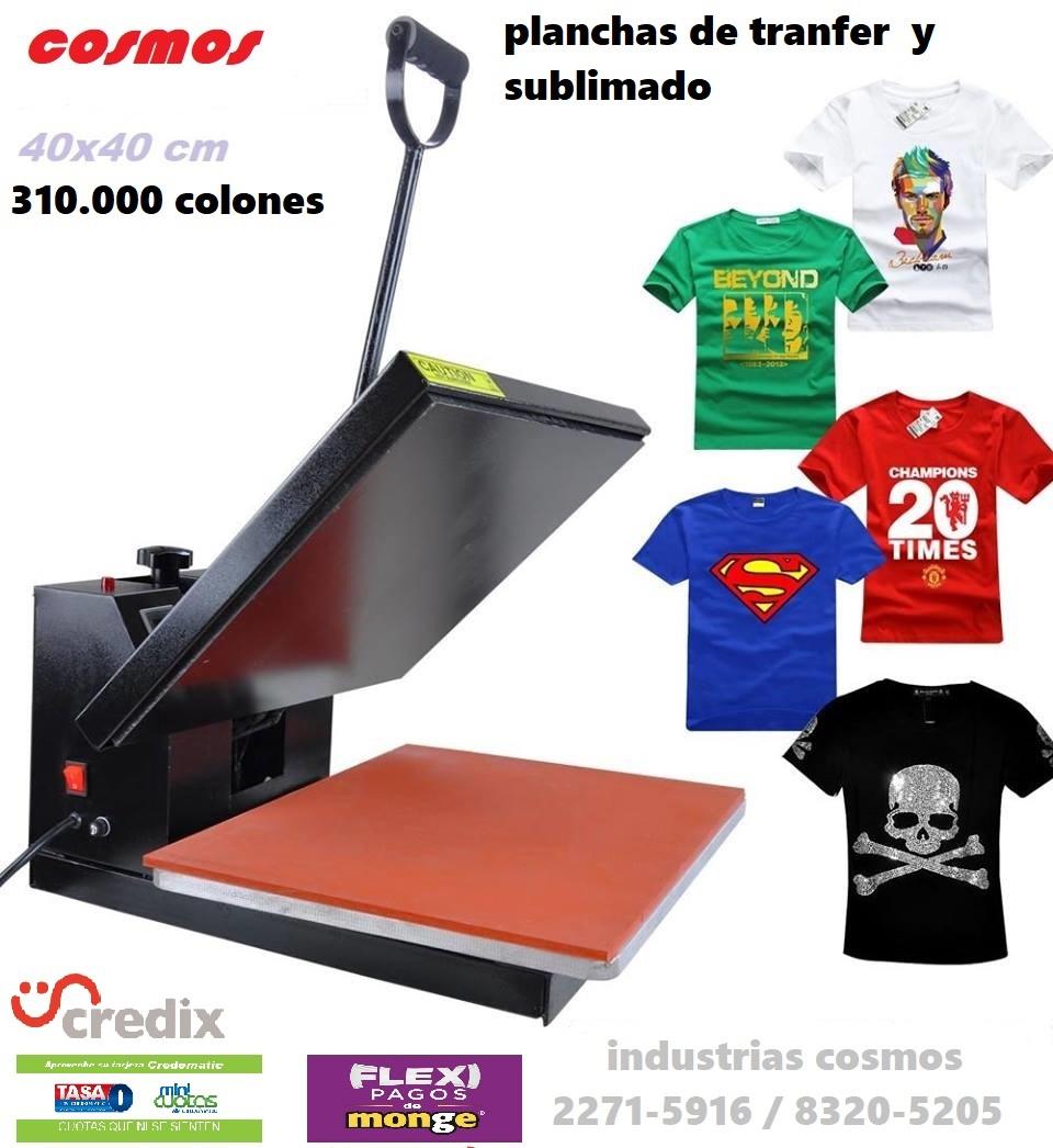 planchas para impresión de camisetas
