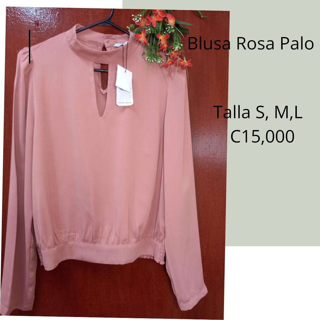 Se  Vende Elegante  Blusa Cuello Alto Rosa Palo
