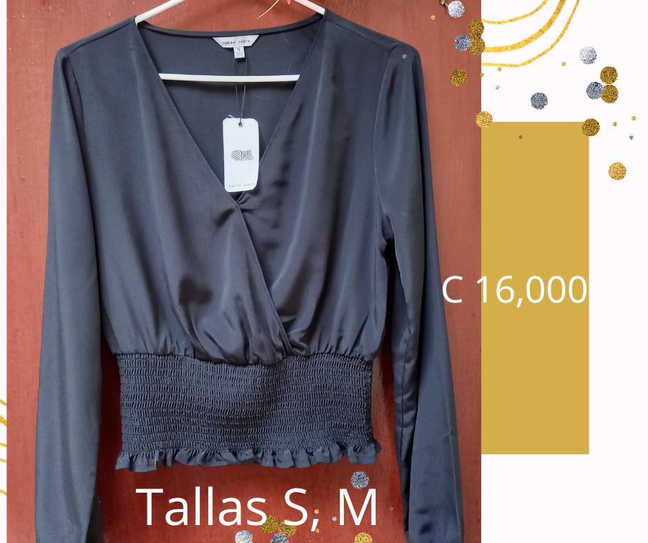 Se Vende Elegante Blusa Con traslape Talla S; M, L