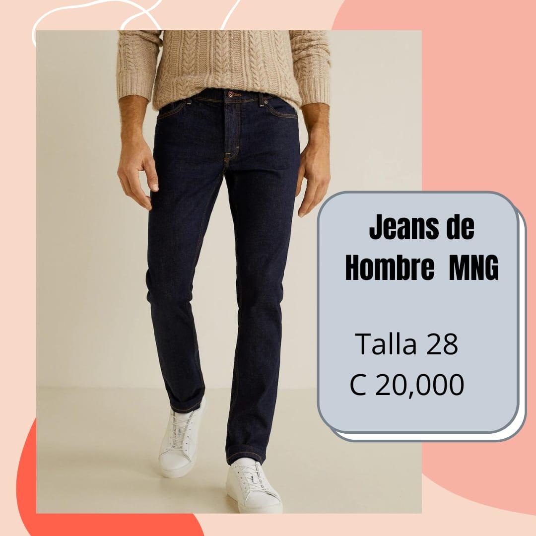SE VENDE HERMOSO JEANS DE HOMBRE MANGO MNG TALLA 28