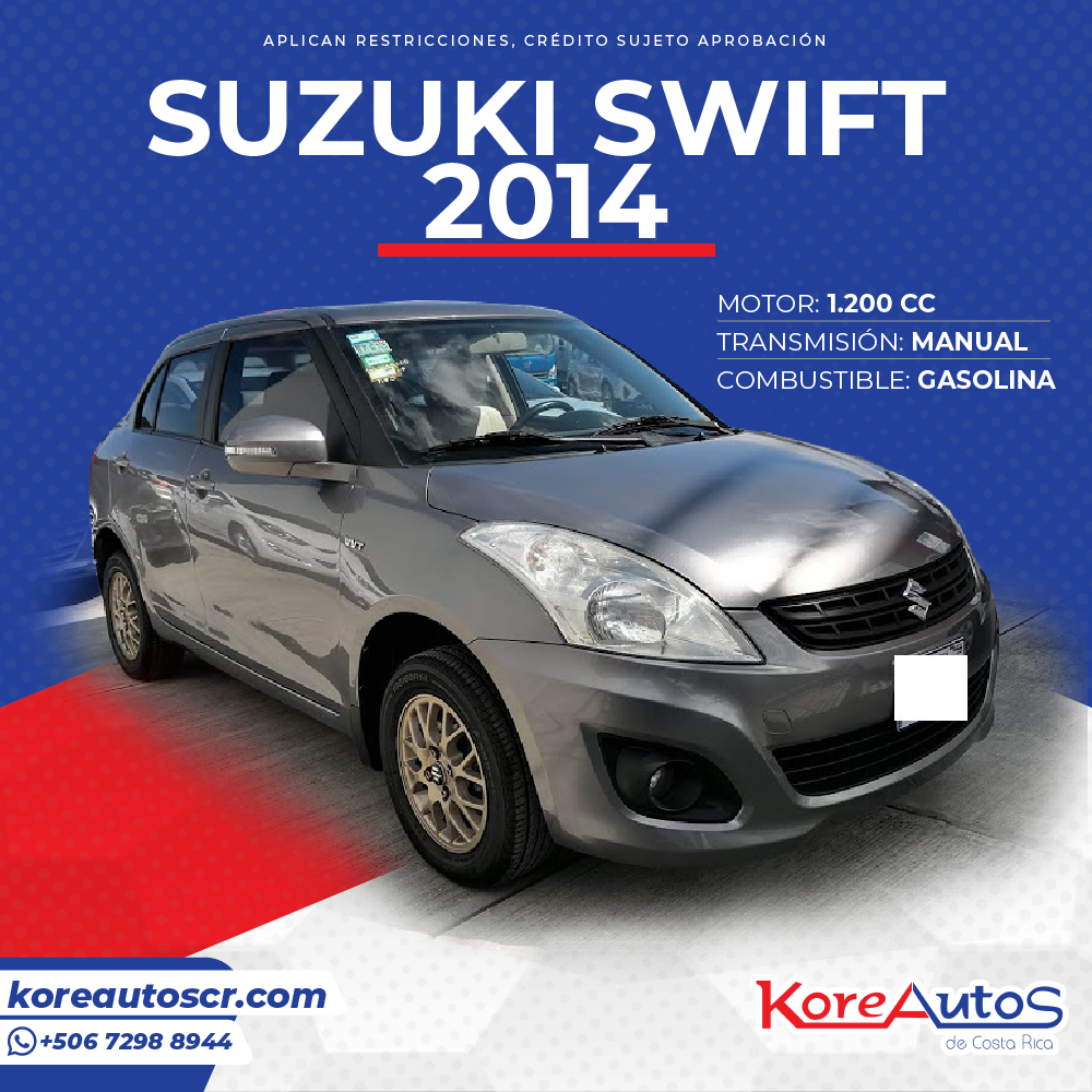 SE VENDE SUZUKI SWIFT 2014