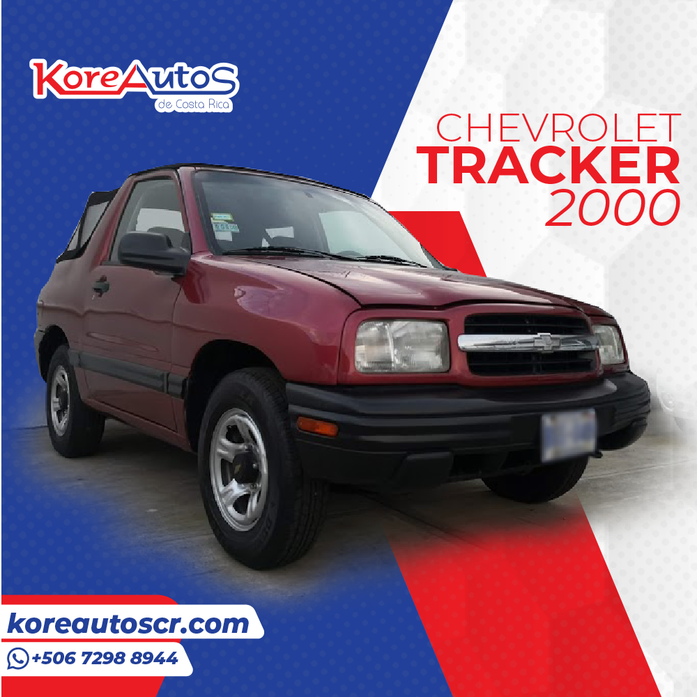SE VENDE CHEVROLET TRACKER 2000