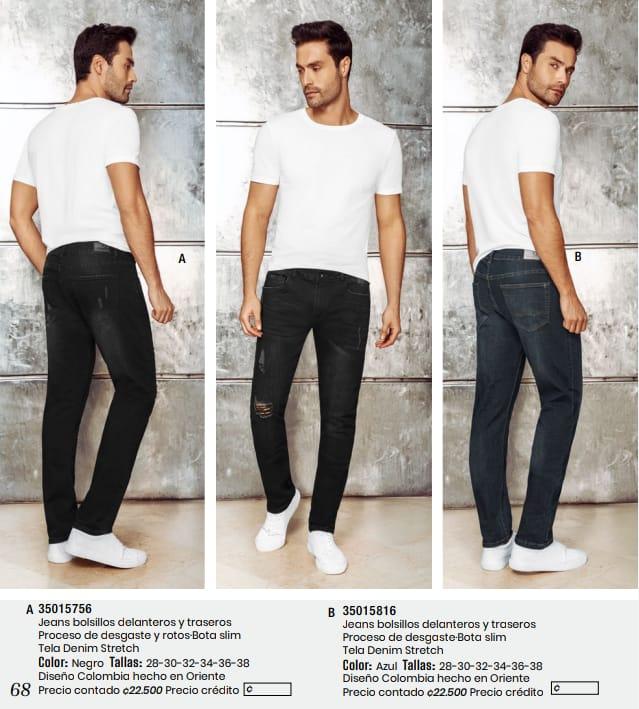 Jeans con bolsillos  delanteros y traseros.