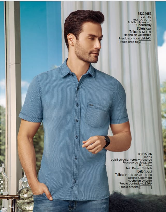 Camisa manga corta y Jeans