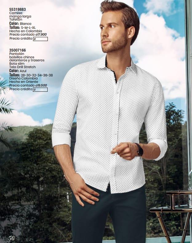 Camisa manga larga  y pantalón en venta.