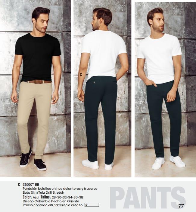 Pantalón  con bolsillos chinos.