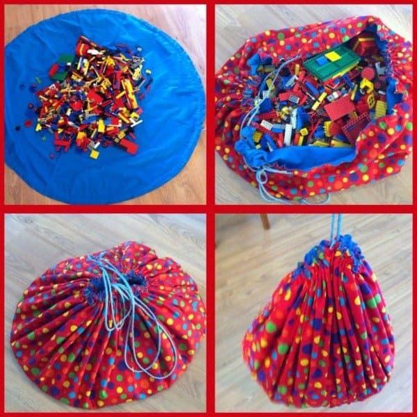 Bolsa de tela organizadora para juguetes