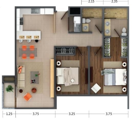 Acogedor Apartamento En San Pablo De Heredia