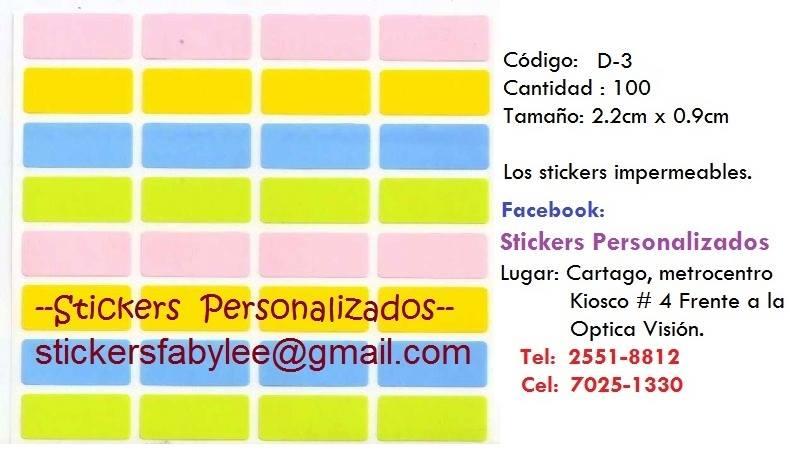 Stickers colores lisos