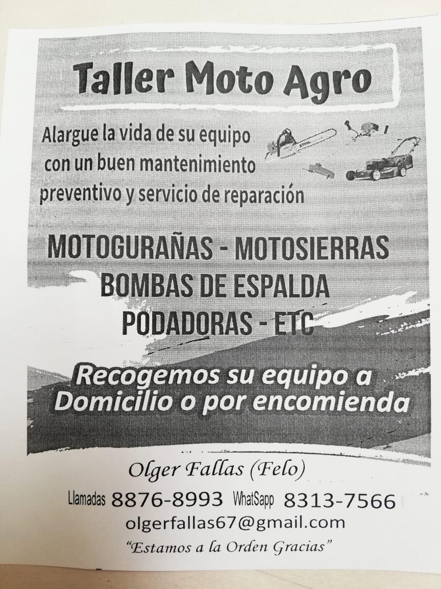 Taller de reparación  Moto Agro