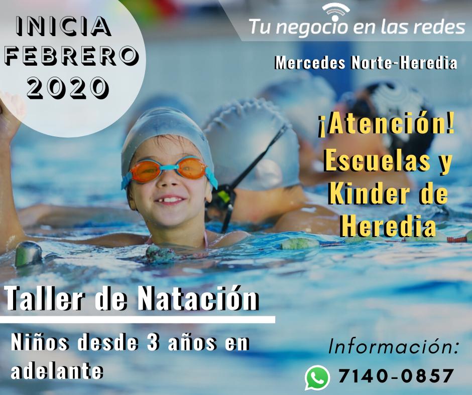 TALLER DE NATACIÓN PARA NIÑOS