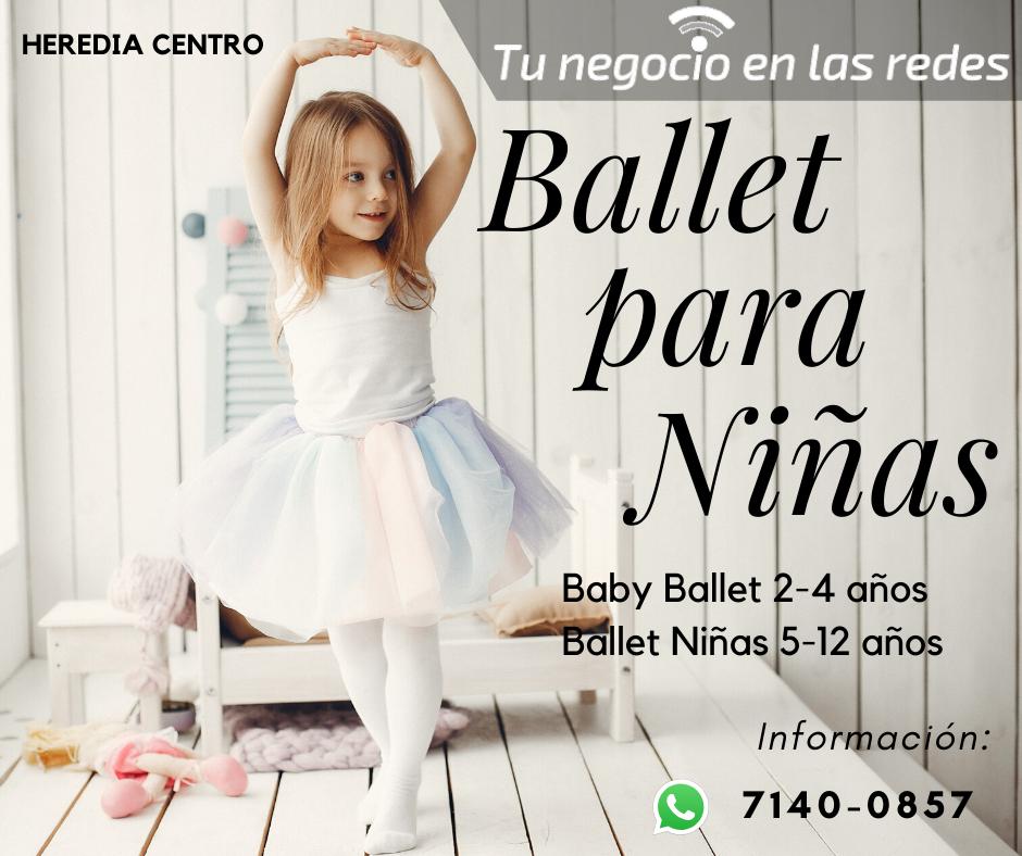 Te ofrecemos en Heredia centro Cursos de Ballet para niñas desde 2 años a 12 años.