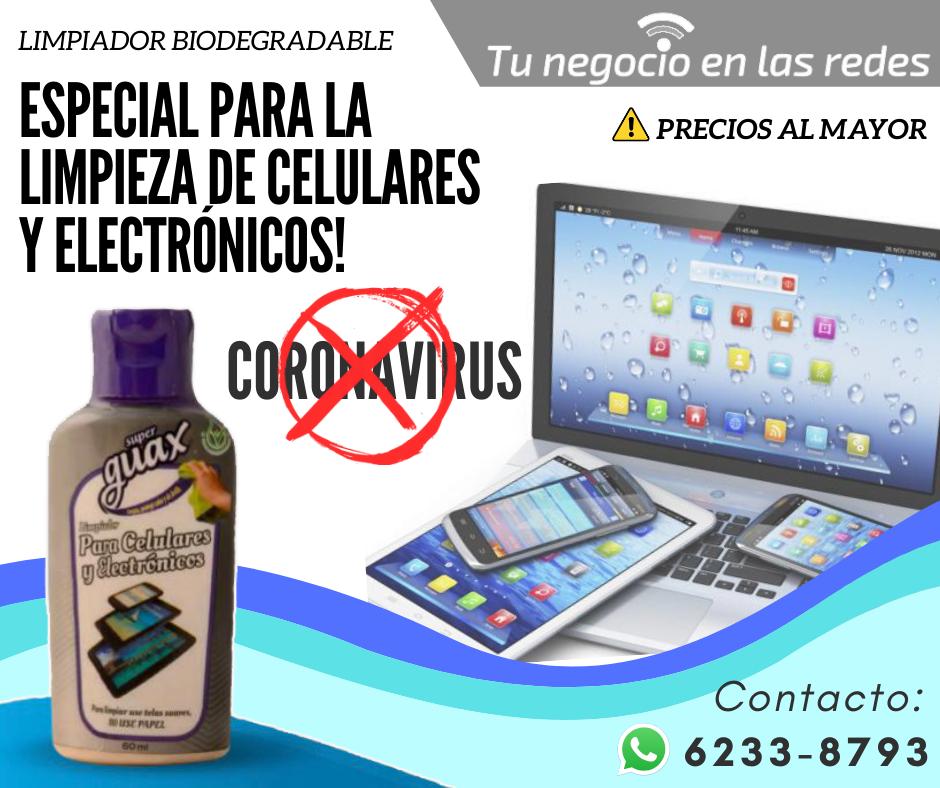 Limpiador para Celulares y Computadoras